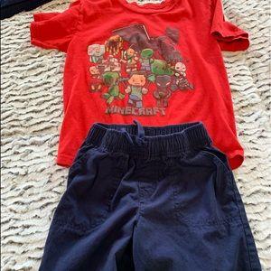 🕹 2/$10 Boys Minecraft Shirt and Shorts 🕹